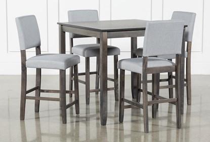 Jarrod Grey 5 Piece Counter Set Living Spaces