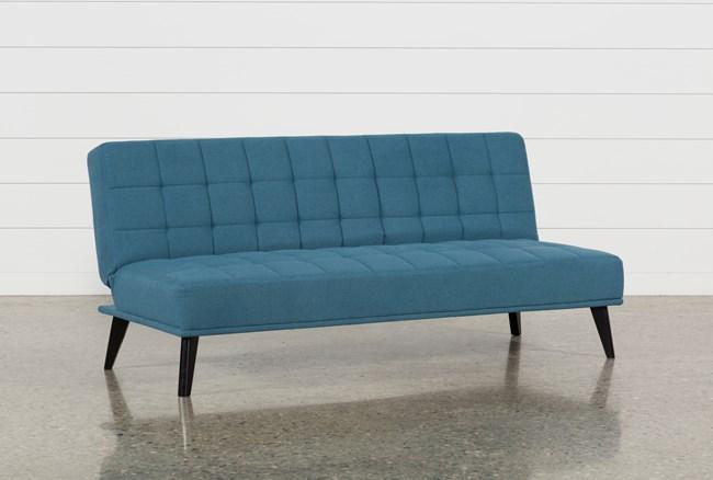 Bea Blue Convertible Sofa - 360