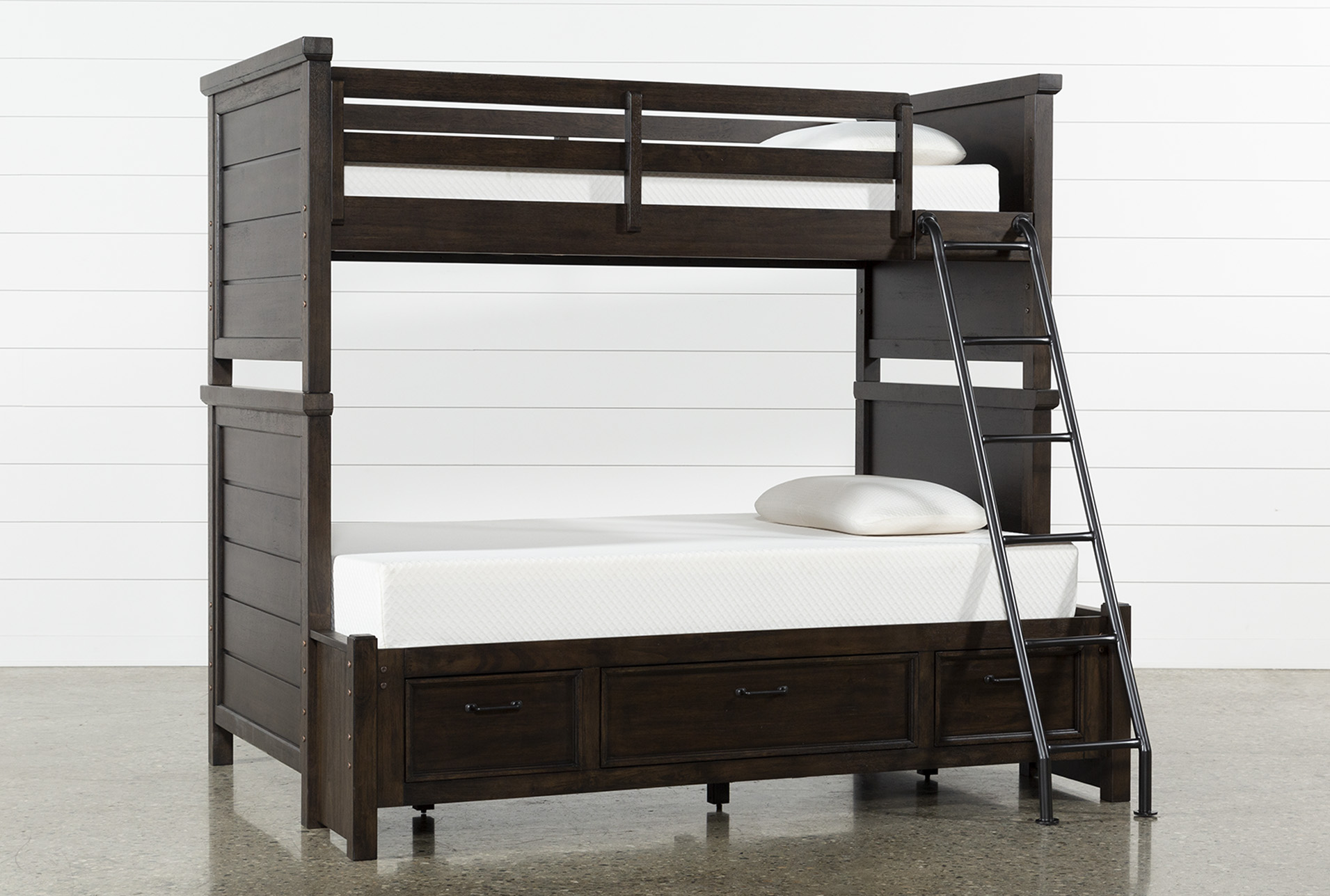 Image of: Jacob Twin Over Full Bunk Bed With Storage Living Spaces