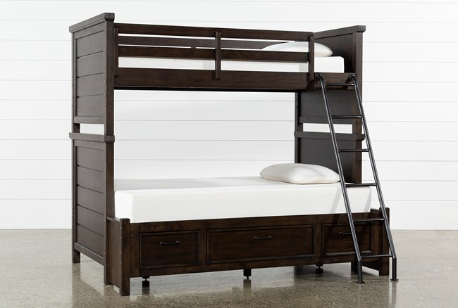 Jacob Twin Over Full Bunk Bed With Storage - 360