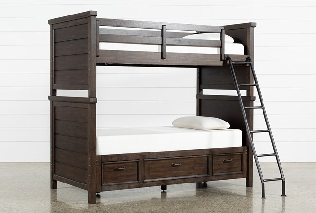 Jacob Twin Over Twin Bunk Bed With Storage - 360