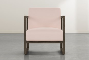 Pacifica Wood Pink Accent Chair