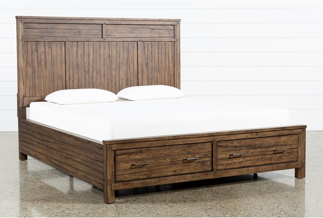 Aldean California King Panel Bed With Storage - 360