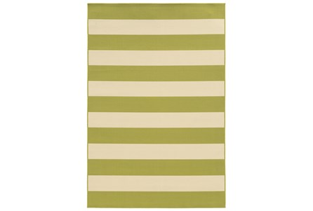 21X45 Outdoor Rug-Lime Stripe