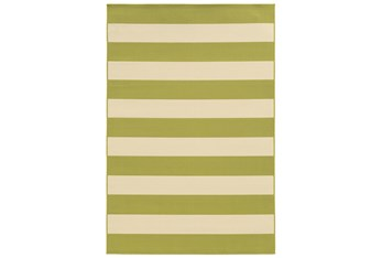"""2'4""""x4'4"""" Outdoor Rug-Lime Stripe"""