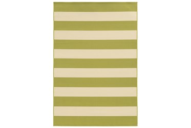 """2'3""""x7'5"""" Outdoor Rug-Lime Stripe"""
