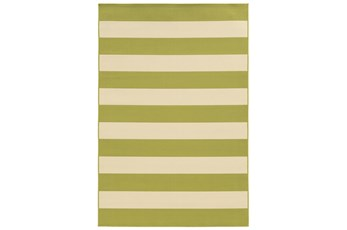 """3'6""""x5'5"""" Outdoor Rug-Lime Stripe"""