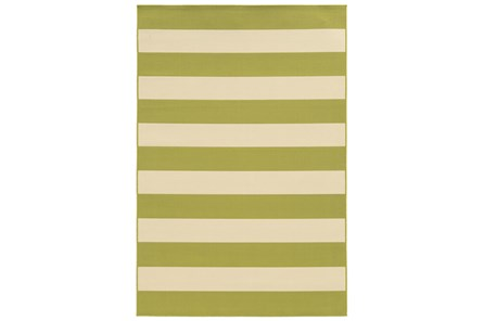 79X114 Outdoor Rug-Lime Stripe