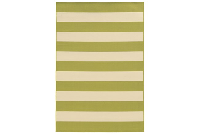 79X114 Outdoor Rug-Lime Stripe - 360