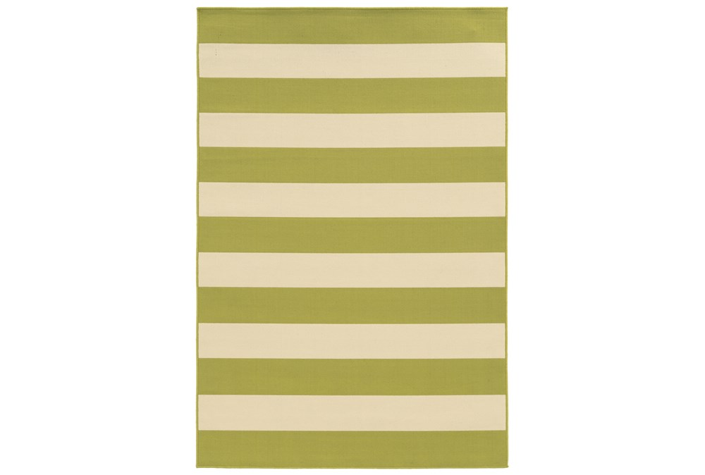 94X130 Outdoor Rug-Lime Stripe