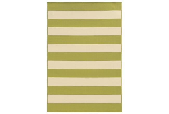 94X130 Outdoor Rug-Lime Stripe - 360