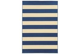21X45 Outdoor Rug-Navy Stripe