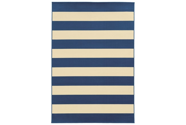 21X45 Outdoor Rug-Navy Stripe - 360