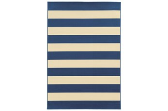 29X53 Outdoor Rug-Navy Stripe