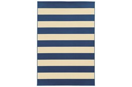 27X90 Outdoor Rug-Navy Stripe