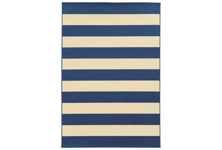 102X156 Outdoor Rug-Navy Stripe