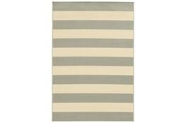 29X53 Outdoor Rug-Grey Stripe