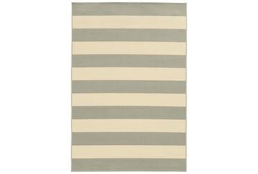 "2'4""x4'4"" Outdoor Rug-Grey Stripe"