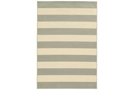 27X90 Outdoor Rug-Grey Stripe