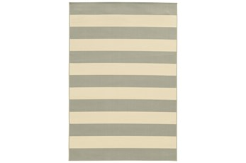 43X66 Outdoor Rug-Grey Stripe
