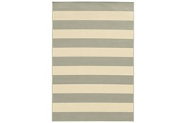 79X114 Outdoor Rug-Grey Stripe