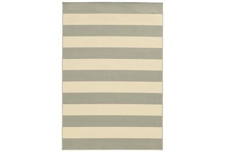 94X130 Outdoor Rug-Grey Stripe