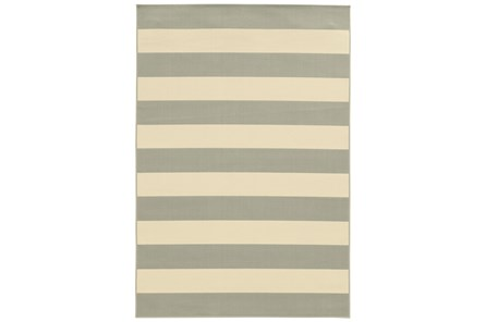 94X130 Outdoor Rug-Grey Stripe
