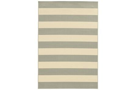94X130 Outdoor Rug-Grey Stripe - Main