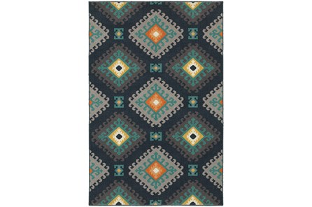 63X90 Outdoor Rug-Diamond Motiff