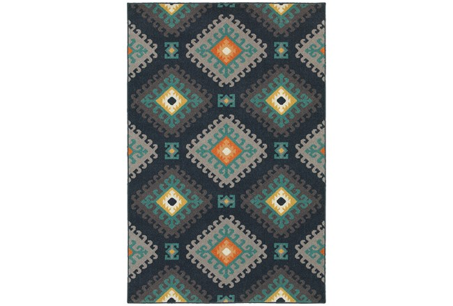 118X154 Outdoor Rug-Diamond Motiff - 360