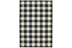 29X53 Outdoor Rug-Black/Ivory Check
