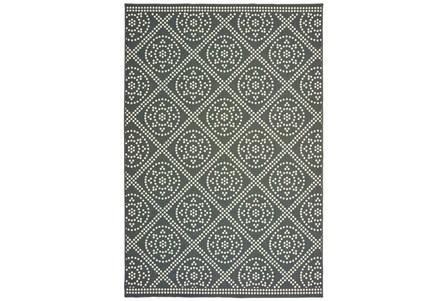 63X90 Outdoor Rug-Grey/Ivory Diamond Dots