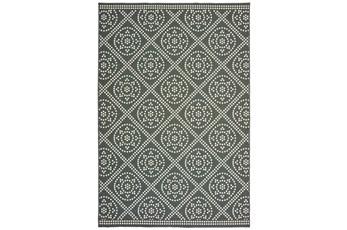 79X114 Outdoor Rug-Grey/Ivory Diamond Dots