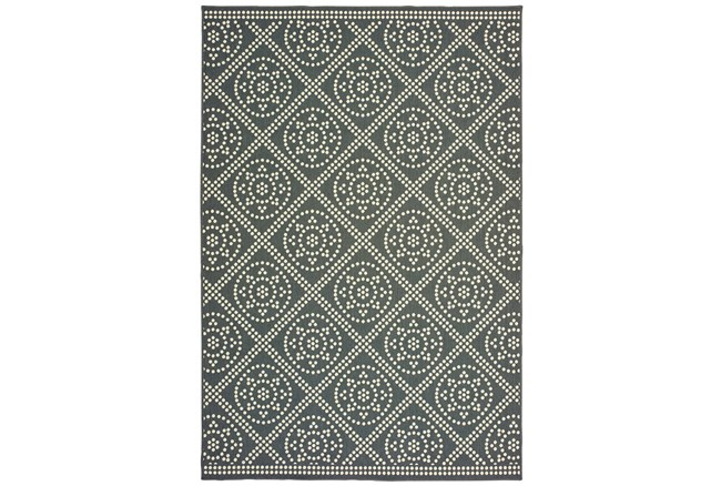 79X114 Outdoor Rug-Grey/Ivory Diamond Dots - 360