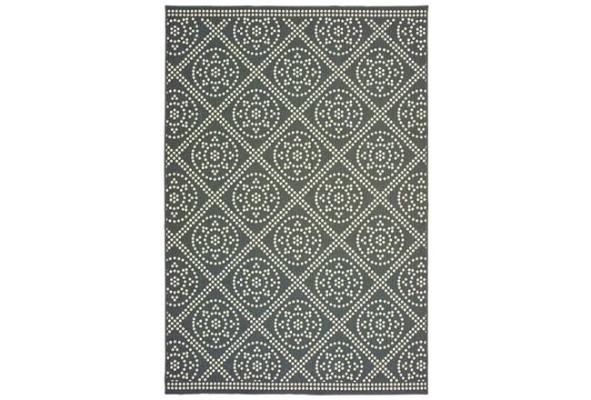 "8'5""x13'1"" Outdoor Rug-Grey/Ivory Diamond Dots - 360"