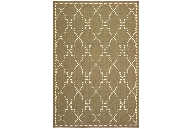 27X90 Outdoor Rug-Gold/Ivory Geometric - 360