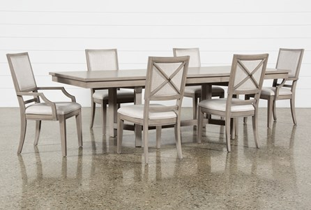 Camilla 7 Piece Rectangle Extension Dining Table