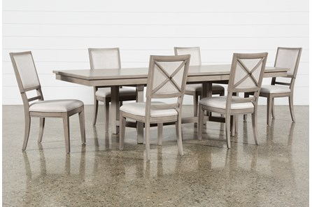 Camilla 7 Piece Rectangle Extension Dining Table With Side Chairs