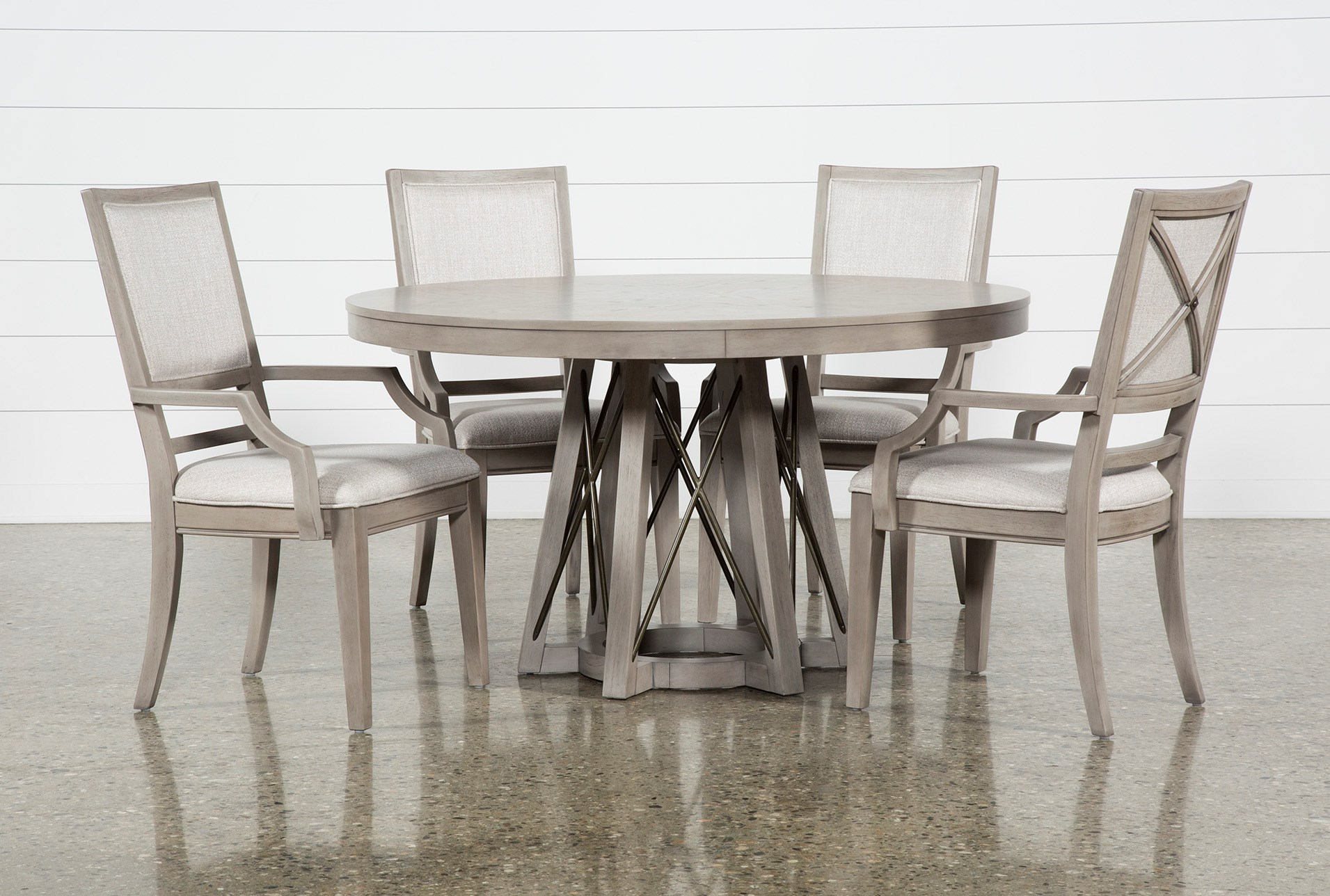 Camilla 5 Piece Round Dining Table With Arm Chairs Qty 1 Has Been Successfully Added To Your Cart