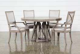 Camilla 5 Piece Round Dining Table With Arm Chairs