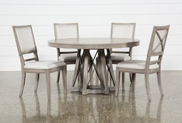 Camilla 5 Piece Round Dining Table With Side Chairs