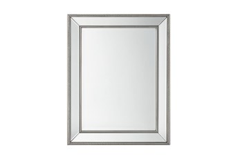 Wall Mirror With Silver Bead Accent