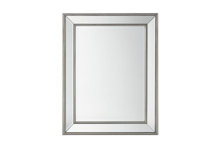 Wall Mirror With Silver Bead Accent - Main