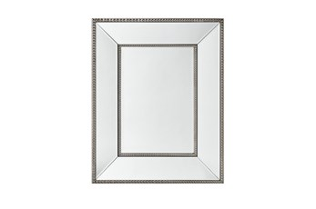 Wall Mirror With Bead Accent