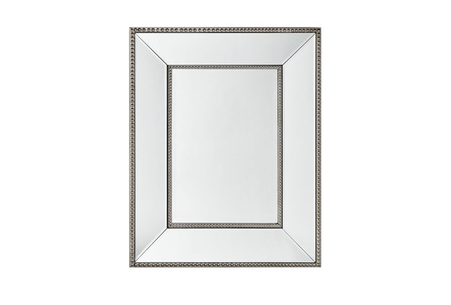 Wall Mirror With Bead Accent - 360