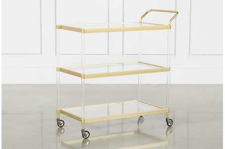 Brushed Gold Bar Cart - Main