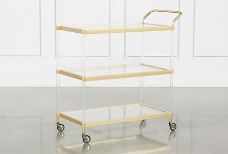 Brushed Gold Bar Cart - Main
