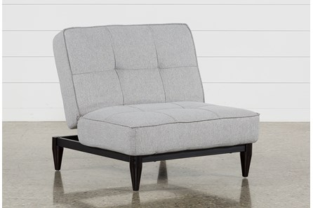 Paige Grey Convertible Chair