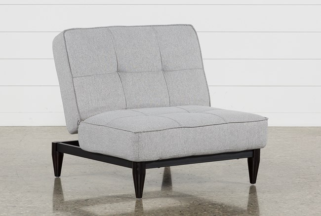 Paige Grey Convertible Chair - 360