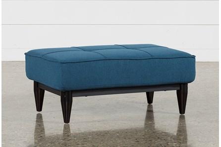 Paige Blue Convertible Ottoman - Main